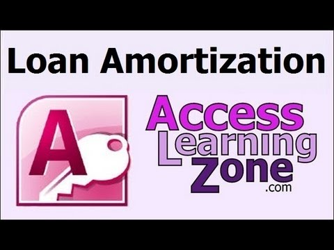 Introduction to Microsoft Access Loan Amortization Seminar
