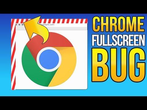 RARE BUG: Chrome Fullscreen Bug; Border Gap in Top Left Corner (2nd Screen + Theme)