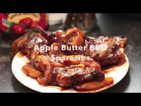 Apple Butter BBQ Spare Ribs by Six Sisters' Stuff