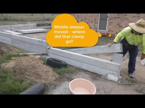 How to move concrete posts or sleepers for retaining wall