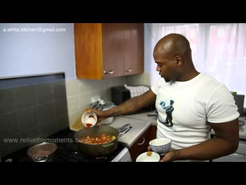 Adrian's Style Of Caribbean Brown Stew Chicken With Rice And Peas