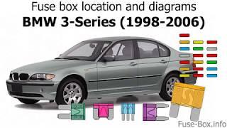 fuse box location and diagrams: bmw 3-series (e46
