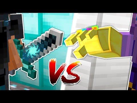 STRONGEST MINECRAFT SWORD vs MINECRAFT INFINITY GAUNTLET!!