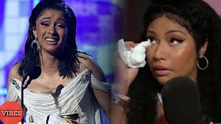 Nicki Minaj CRIES As She Officially Congratulates Cardi B For Her Grammy Award