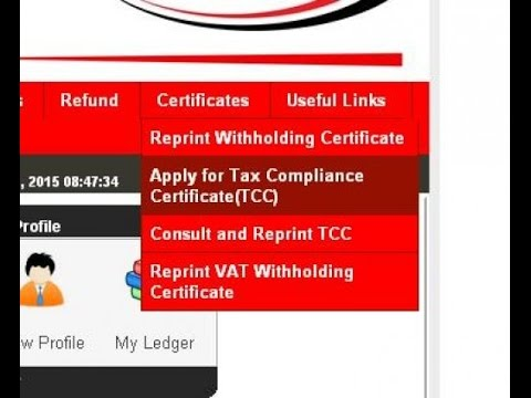 How to apply for KRA iTax tax compliance certificate - TCC