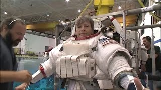 NASA astronaut Peggy Whitson #SuitUp Video
