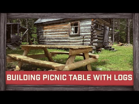 Building a Picnic Table With Logs