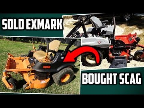 Dad Sold Exmark Zero Turn Mower and Bought Scag Freedom Z