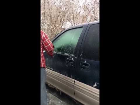 Clean ice off windshield quick