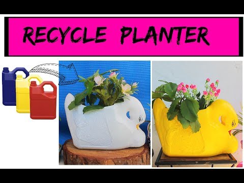 DIY Duck Planter using Oil Can/ DIY Garden Decor