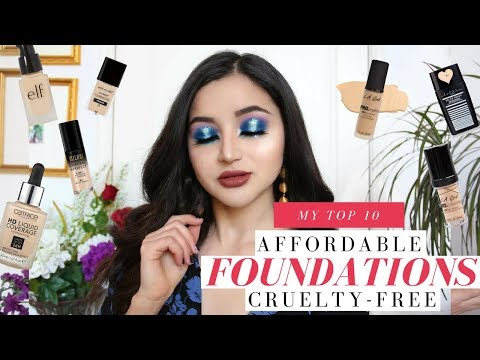 MY FAVORITE FOUNDATIONS ☽ The 10 BEST Affordable + Cruelty Free Drugstore Formulas
