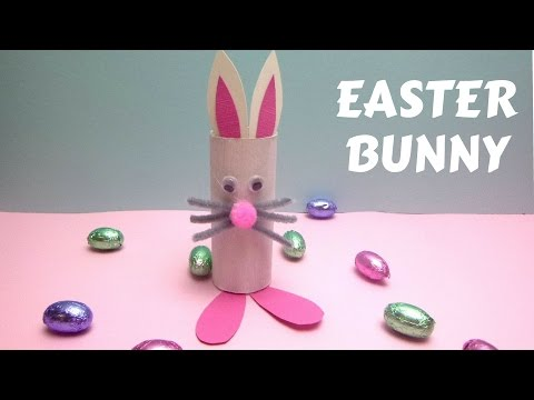 Easter Crafts – Toilet Paper Roll Easter Bunny – Toilet Paper Roll Crafts