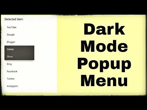 Dark mode PopupMenu in Sketchware