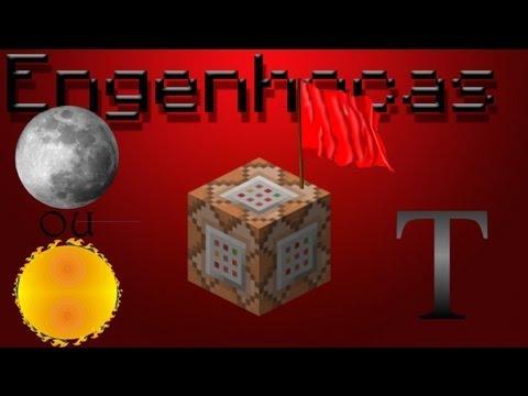 Engenhocas Minecraft - Command Block (definir spawnpoint, deixar só noite/dia, Texto)