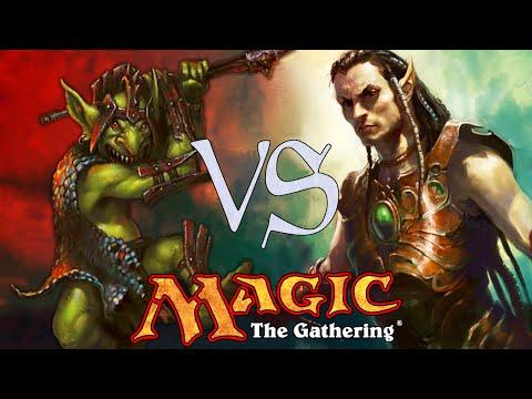 MtG Modern Gameplay - Elves VS Goblins