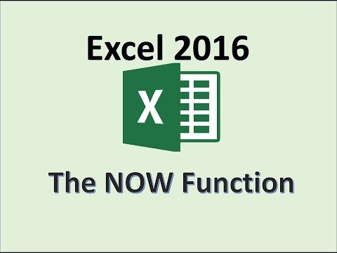 Excel 2016 - NOW Function - How To Use The NOW Formula in MS Excel - Insert Functions and Formulas