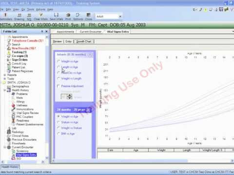 pediatric growth Charts in AHLTA 3.3 video