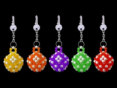 How To Make Crystal Beaded Keychains | DIY Beaded Keychains Tutorials | Beads Craft Ideas