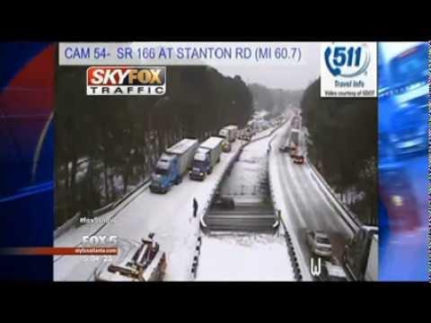 Massive Traffic Delays Metro Area Atlanta Snowfall 2014 LEON