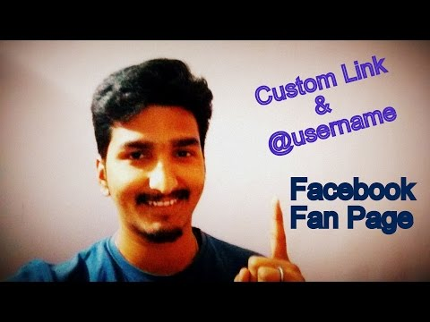 How to get @username and Custom Link | Url for Facebook Fan Page