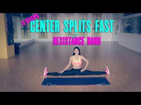 5 STEPS TO GET CENTER SPLITS FAST WITH RESISTANCE BAND