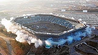 Pontiac Silverdome stadium fails to implode in Detroit