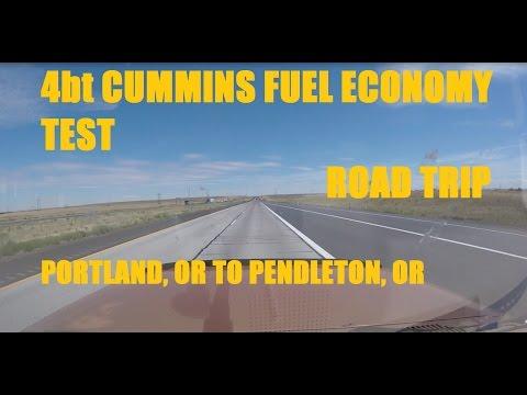 4BT Cummins Fuel Economy Testing Road Trip! Portland to Pendleton, Oregon