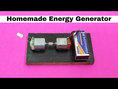 Electric Generator | Make a Small  Generator at Home Easy