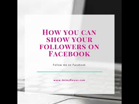 How to show my followers on facebook