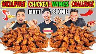 MATT STONIE'S RECORD BROKEN | SPICY HELLFIRE CHICKEN WINGS CHALLENGE DESTROYED | NEW RECORD (Ep-315)