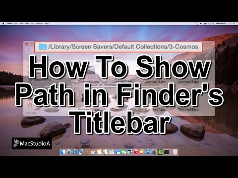 How To Show Path of Folders in Finder Titlebar Mac OS X