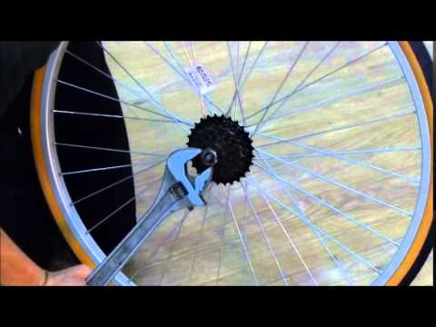 How to remove a shimano screw on freewheel