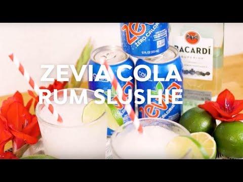 Sugar Free Zevia Cola Rum Slushie