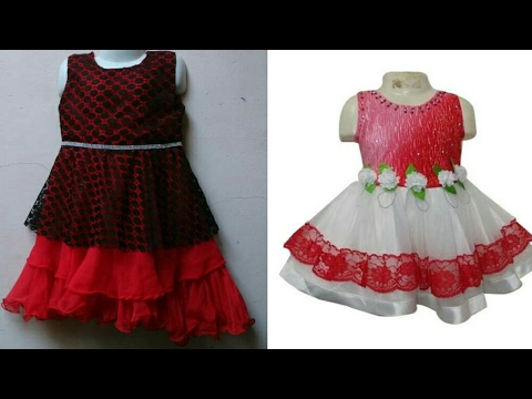 Umbrella cut designer baby frock cutting and stitching easy tutorial