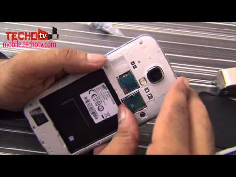 How to insert SIM Card, Memory Card in Samsung Galaxy S4