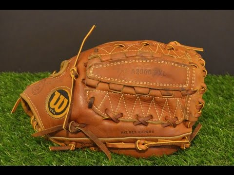 Wilson A2000 XL Baseball Glove Relace - Before and After Glove Repair