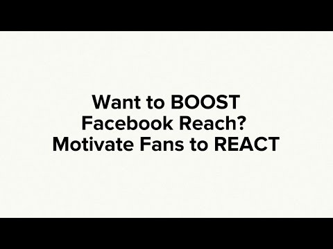 Want More Facebook Reach? Motivate Fans to REACT