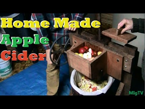 Home Apple Cider Pressing