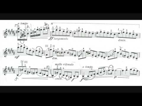 Michael Rabin's fingerings of the Conus Violin Concerto