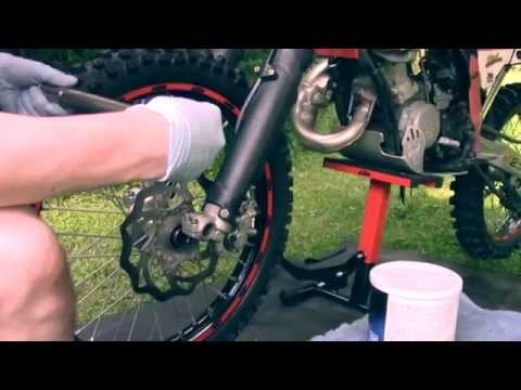 How to Replace the Front Tire on a KTM 125sx!!!!