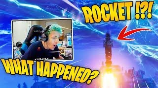 Download *NINJA* reacts to *ROCKET* Launch in Fortnite - (Exclusive) Video