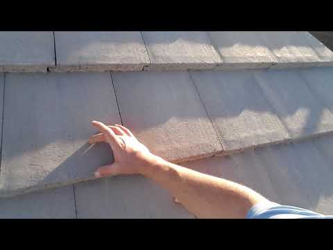 Where to step on a concrete tile roof