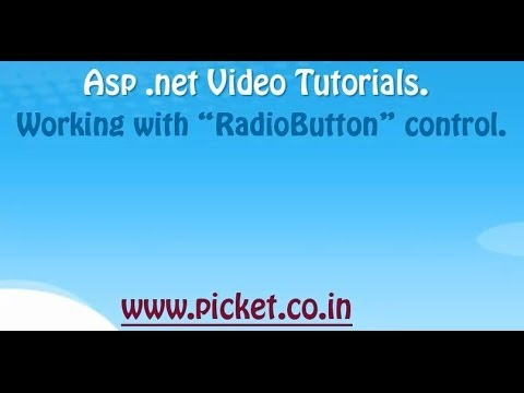 Radio Button control in ASP.net with C# using visual studio.