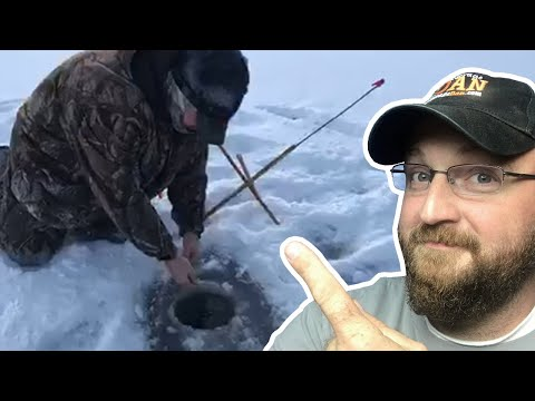 Catching a Fish While Ice Fishing
