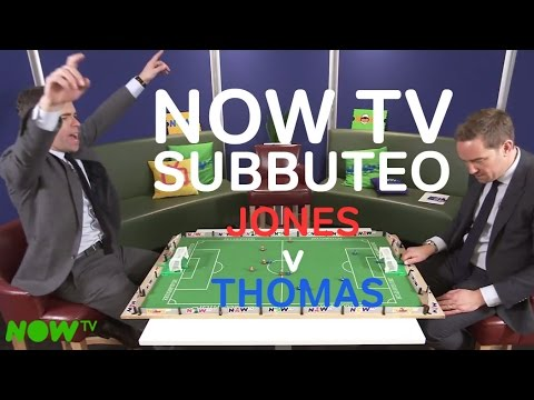 Thomas v Jones   Sky Sports Pundits clash   NOW TV Subbuteo