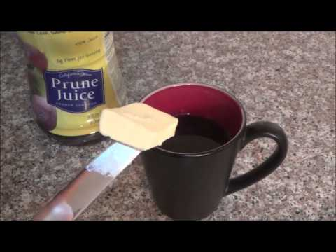 Fast Constipation Relief {Life Hack} : Warm Prune Juice (& Butter)