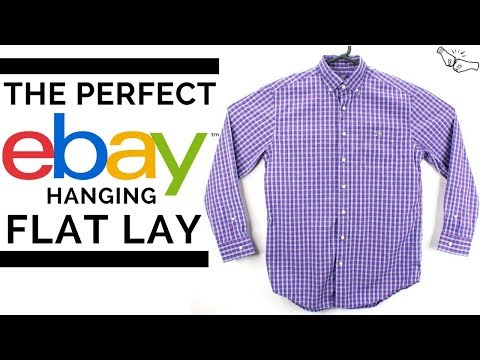 The Perfect eBay Flat Lay - GIANT HANGER - How to take amazing pictures for eBay | Callie & Alli