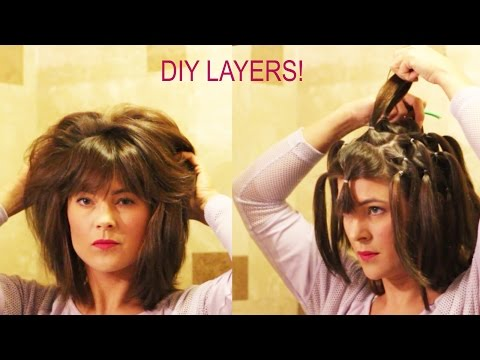 How to cut your own layers: DIY 90 Degree Haircut Method for Long Layers with Detailed Instructions