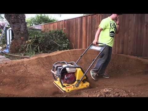 Shaping the backyard pump track