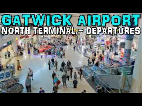 Gatwick Airport North Terminal Departures(4K)